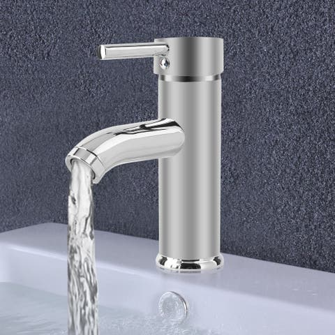 7 Inch Bathroom Sink Faucet Deck Mount Basin Mixer Tap Single Handle Tap