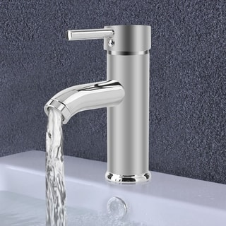 7 Inch Bathroom Sink Faucet Deck Mount Basin Mixer Tap Single Handle Tap
