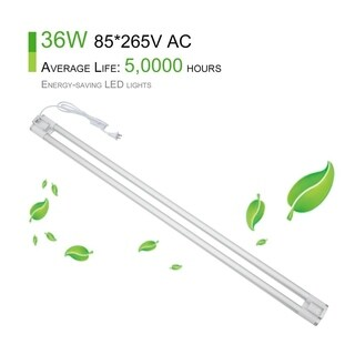 Portable 36W LED Shop Light Garage Linkable Lamp 1.2M Dual Bulb T8 Tube Light