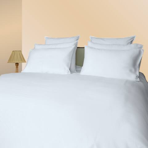 Just Linen Hotel Collection, 300 Thread Count 100% Cotton Sateen , Solid White, Queen Size Pack Of 4 Fitted Sheets