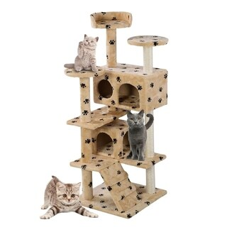 Cat Tree Tower Condo Furniture Scratch Post Pet Kitten House Play Castle