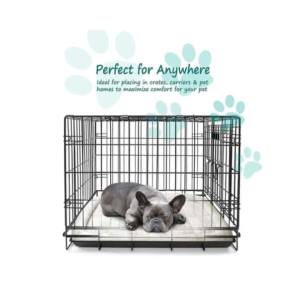 Shop Fluffy Paws Foldable Soft Fleece Pet Crate Bed Mat With