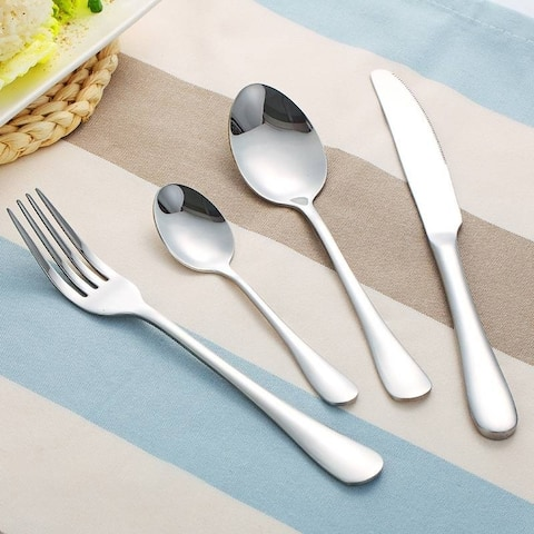 4Pcs Stainless Steel Tableware Steak Flatware Sets