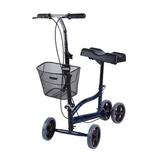 Walker Scooter Steerable Turning Folding Heavy Duty Crutches Alternative