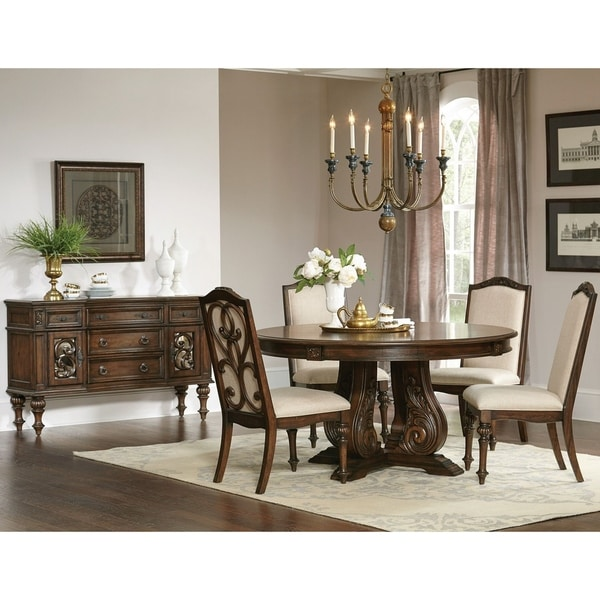 Traditional Cherry Casual Carved Design Dining Room Round: Shop La Bauhinia French Antique Carved Wood Design Round
