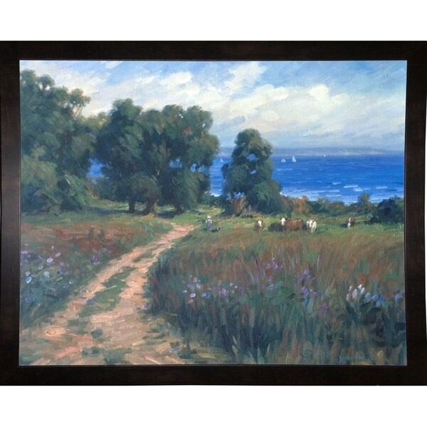 "Pathway To The Sea-GHA37988 Print 14.25""x18"" by Ghambaro"