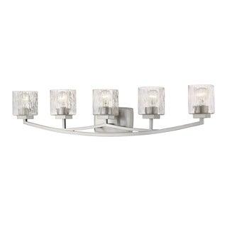 Avery Home Lighting Zaid 5-light Nickel Finish Steel Vanity Fixture