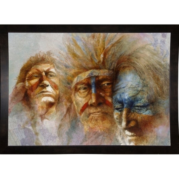 "Three Chiefs-DENLUN64550 Print 16""x22.5"" by Denton Lund"