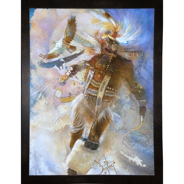 "The Eagle Dancer-DENLUN75498 Print 41.75""x31.25"" by Denton Lund"