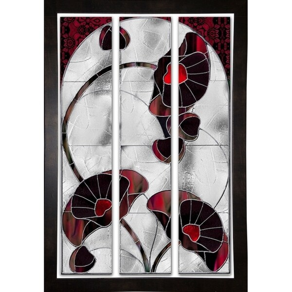 """Art Nouveau Poppies-MINSOM112487 Print 20.75""""x13"""" by Mindy Sommers"""