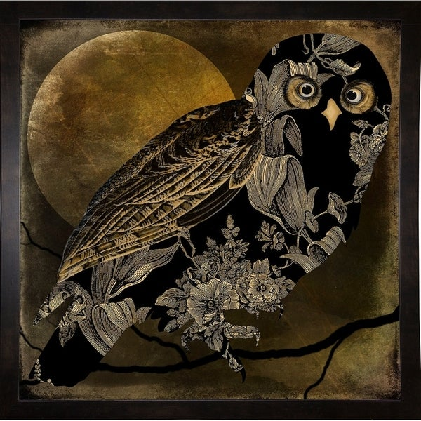 """Sepia Moon Owl-MINSOM119370 Print 26""""x26"""" by Mindy Sommers"""