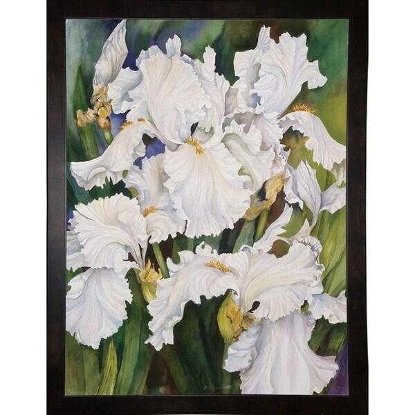 "White Iris-JOAPOR2178 Print 26.5""x20"" by Joanne Porter"
