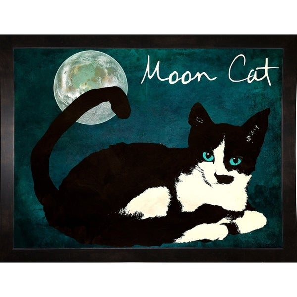 """Mooncat-MINSOM126550 Print 18""""x24"""" by Mindy Sommers"""