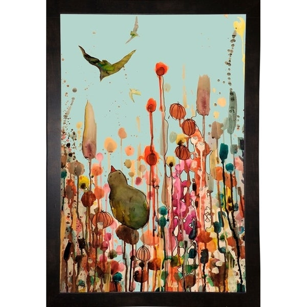 "Learning To Fly (Blue Sky)-SYLDEM145232 Print 13.25""x9"" by Sylvie Demers"