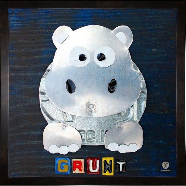 "grunt the hippo-DAVBOW112175 Print 12""x12"" by Design Turnpike"