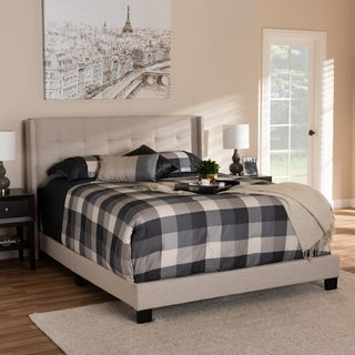 Contemporary Fabric Bed by Baxton Studio