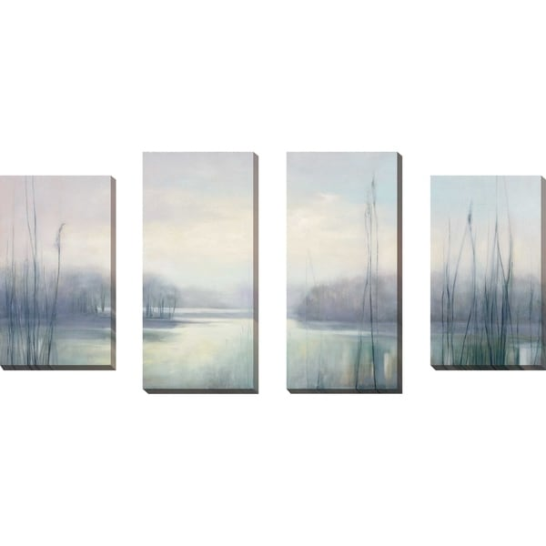 """""""Misty Memories"""" by Julia Purinton Set of 4 Print on Canvas - gray"""
