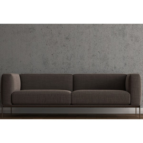 Shop Made To Order Roche Studio Axl Brown Fabric Sofa On