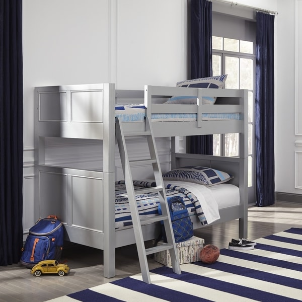 Copper Grove Dugaresa Twin-over-Twin Grey Wood Bunk Bed. Opens flyout.