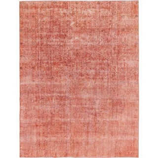 Hand Knotted Ultra Vintage Wool Area Rug - 9' 6 x 11' 9