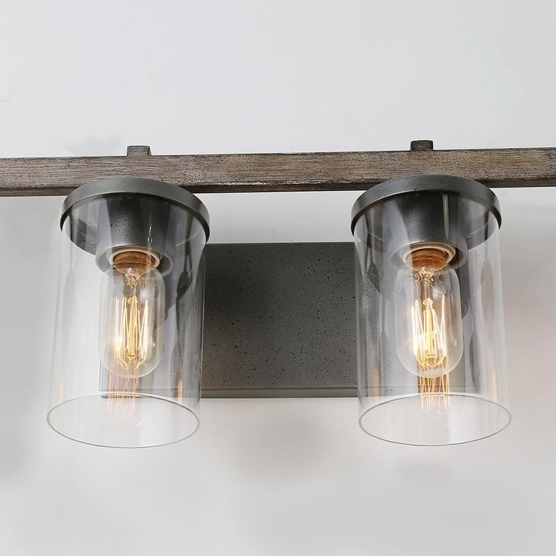 Lnc 4 Light Vanity Bathroom Wall Lights Rustic Sconces