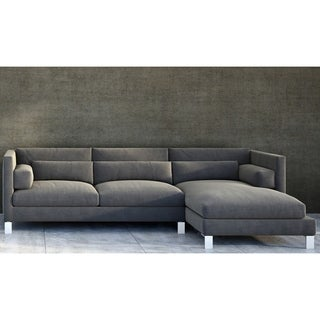 Made to Order Roche Studio Mikel Grey Fabric Sectional Sofa