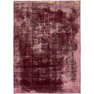 Hand Knotted Ultra Vintage Antique Wool Area Rug - 7' 6 x 10' 6