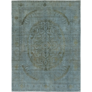 Hand Knotted Ultra Vintage Wool Area Rug - 9' 3 x 12' 4