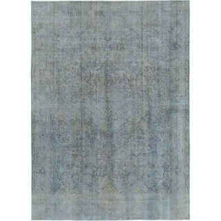Hand Knotted Ultra Vintage Wool Area Rug - 9' 5 x 12' 9