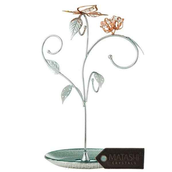 Shop Matashi Ktmtflt79 8 Floral Butterfly Tree Design Jewelry Tower Stand Display Holder Organizer For Earring Necklace Silver Gold Overstock 24097286