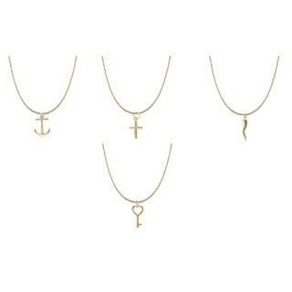 14k Solid Gold Charm Necklaces