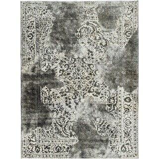 Hand Knotted Ultra Vintage Wool Area Rug - 9' 7 x 13'