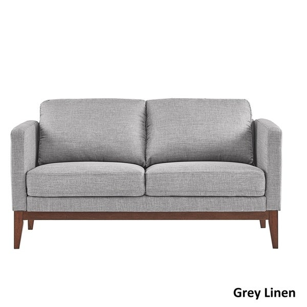 Carson Carrington Siauliai Linen Upholstered Sofa and Loveseat