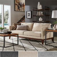 Vail Linen Upholstered Sofa and Loveseat by iNSPIRE Q Modern