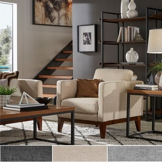 Shop Zoli Mid Century Modern Design Grey Upholstered