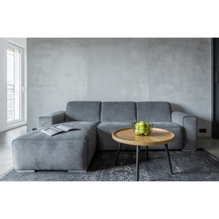 Made to Order Roche Studio Violet Grey Fabric Sectional Sofa