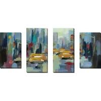 """Manhattan Sketches I IV"" by Silvia Vassileva Set of 4 Print on Canvas - Blue"