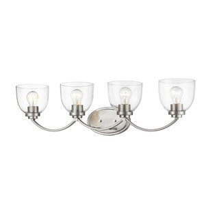 Avery Home Lighting Ashton Metal and Glass 4-light Transitional Vanity
