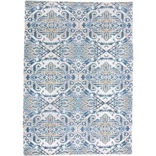 Grand Bazaar Anata Blue/Tan Rug (5x7) - 5' x 7'