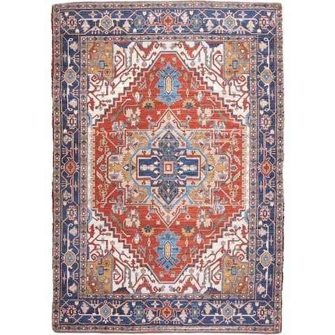 Grand Bazaar Anata Navy/Multi Rug (5 x 7) - 5' x 7'