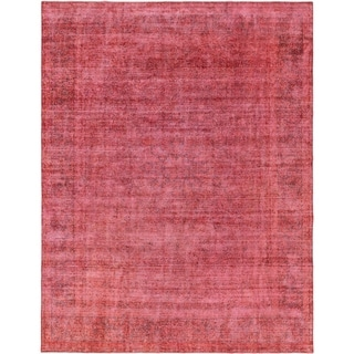 Hand Knotted Ultra Vintage Wool Area Rug - 9' 8 x 12' 9