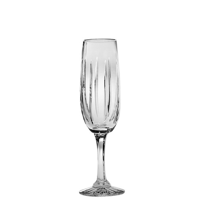 Majestic Gifts European Quality Cut Crystal Flute Champagne Glasses 7 5 Oz Set 4 Made In Europe Overstock 24099492