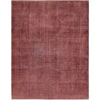 Hand Knotted Ultra Vintage Antique Wool Area Rug - 9' 8 x 13'