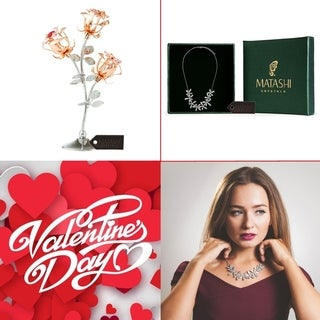 """Matashi KTMTFLT20 Rose Gold and Chrome Plated Rose Flower with Rhodium Plated Necklace and 12"""" Extendable Chain"""