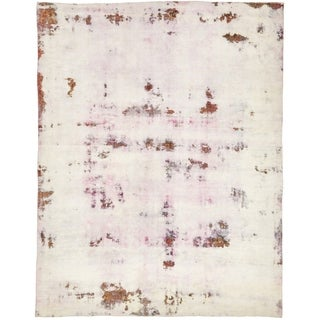 Hand Knotted Ultra Vintage Antique Wool Area Rug - 9' 5 x 12' 2