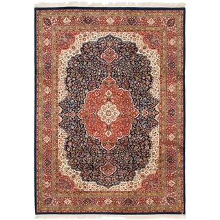 Hand Knotted Tabriz Wool Area Rug - 8' 2 x 11' 4