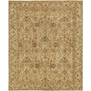 Hand Knotted Ultra Vintage Antique Wool Area Rug - 9' 7 x 11' 7