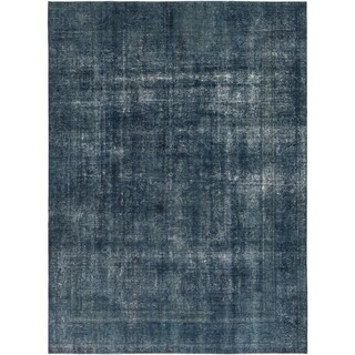 Hand Knotted Ultra Vintage Wool Area Rug - 9' 5 x 12' 10