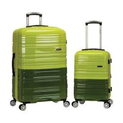 Rockland 2 Piece Expandable ABS Spinner Set F225 Lime/Green