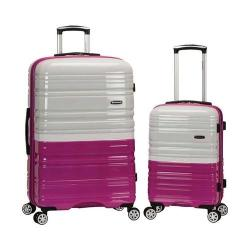 Rockland 2 Piece Expandable ABS Spinner Set F225 Magenta/White